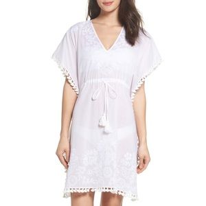 TORY BURCH EMBROIDERED CAFTAN COVERUP 🌸IN STORES